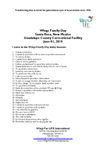 06-01-19 Wings Family Day Guadalupe County Correctional Facility Comments Anderea Willa