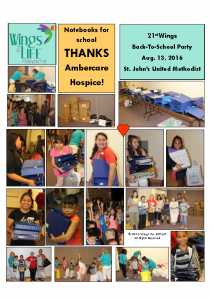08-13-16 Ambercare Hospice – Notebooks for Back-To-School Party