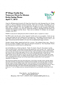 Tennessee Prison for Women – Easter – Spring – 4-11-15