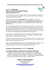 Volunteer Comments L.I.F.T. – Otero County Nov. 8-9, 2017
