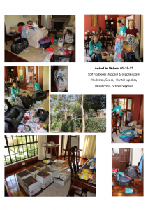 01-18-13 & Arrival in Nairobi – boxes & supplies