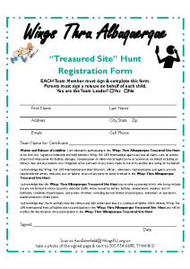 2 Registration Form – Treasured Site Hunt – Wings Thru ABQ