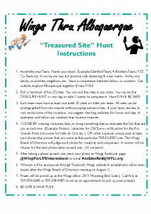 3 Instructions – Treasured Site Hunt – Wings Thru ABQ
