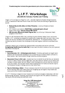 LIFT Workshop Description