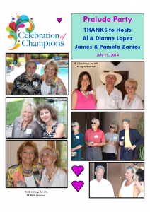 7-17-14 Celebration of Champions – Al & Dianne Lopez & James & Pamela Zanios