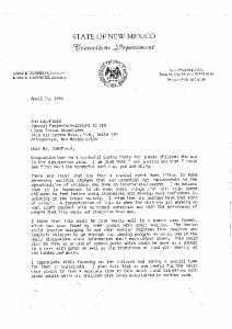1996 Comments from Officials about Impact of Wings Family Days