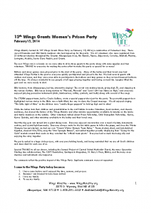 Grants Women's Prison Party – 02-15-14