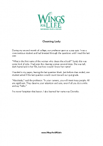 Cleaning Lady 10-19-20