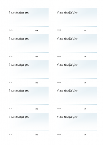 I am Thankful For…. blank cards 10 to a page