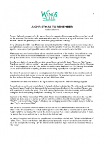 Story – A CHRISTMAS TO REMEMBER