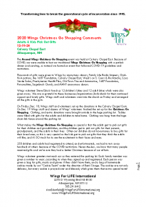 12-19-20 Christmas Go Shopping – Calvary Chapel East