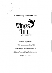 Eldorado High School Community Service Project 8-23-17