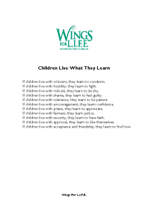 Children Live What They Learn