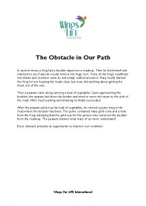 Obstacles in our Path