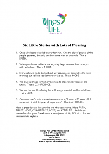 5-3-21 Six Little Stories with Lots of Meanings