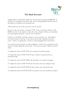 8-9-21 The Bank Account